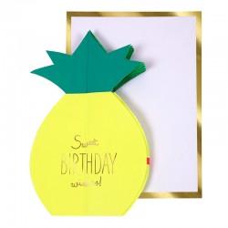 Biglietto Buon Compleanno con ananas
