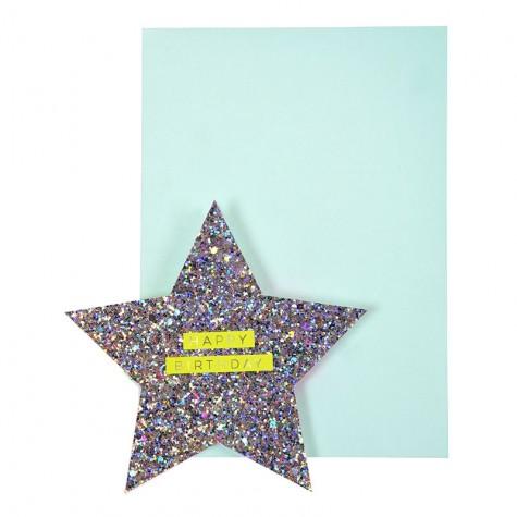 Biglietto Buon Compleanno con stella