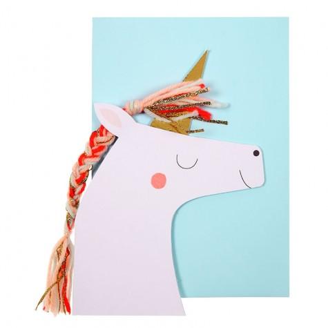 Biglietto Buon Compleanno con unicorno