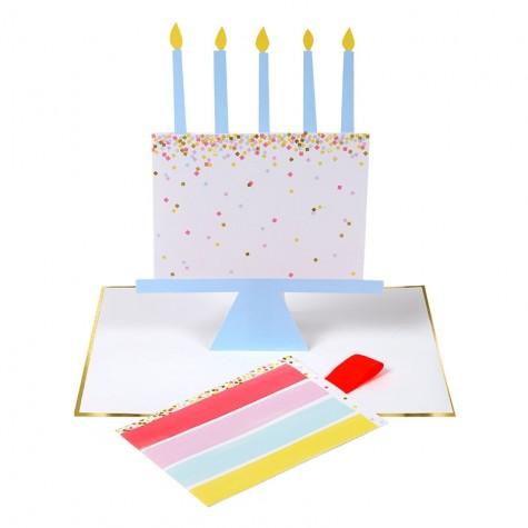 Biglietto Buon Compleanno con fetta di torta