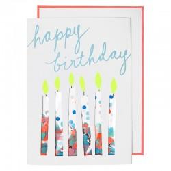Biglietto Buon Compleanno coriandoli e candeline