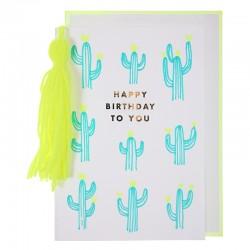 Biglietto Buon Compleanno cactus