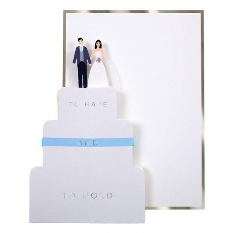 Biglietto matrimonio torta nuziale