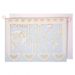 Biglietto per matrimonio Mr & Mrs ghirlanda