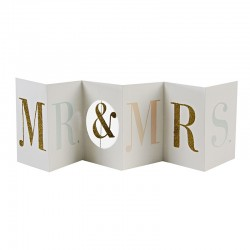 Biglietto matrimonio Mr & Mrs banner