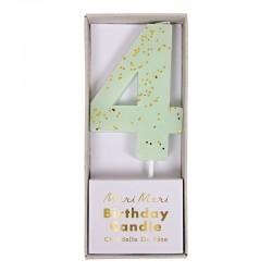 Candelina numero con glitter dorato - 4