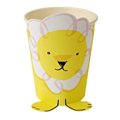 Bicchieri di carta con leone