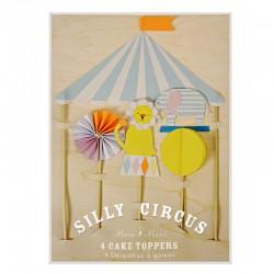 Decorazioni per dolci, topper circo