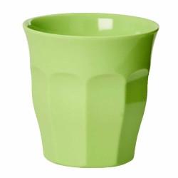 Bicchiere in tinta unita verde neon