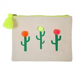 Astuccio colorato con cactus
