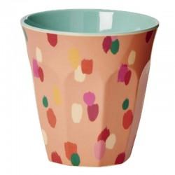 Bicchiere melamina con fantasia macchie colorate