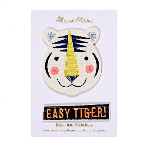 Toppa ricamata tigre
