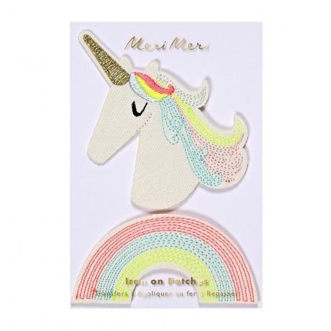 Toppa ricamata unicorno