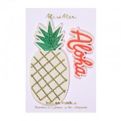 Toppa ricamata a forma di ananas