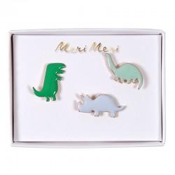Spilla smaltata a forma di dinosauro