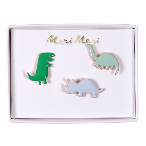 Spilla smaltata con dinosauri