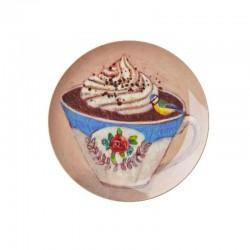 Piatto frutta - cioccolata in tazza