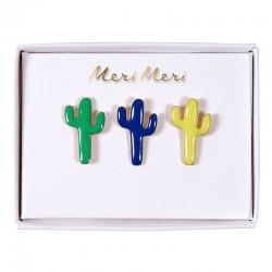 Spilla smaltata a forma di cactus