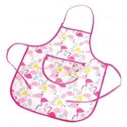 Grembiule per bambina con flamingo