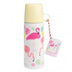 Thermo flamingo con tappo e bicchiere