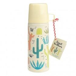 Thermo cactus con tappo e bicchiere
