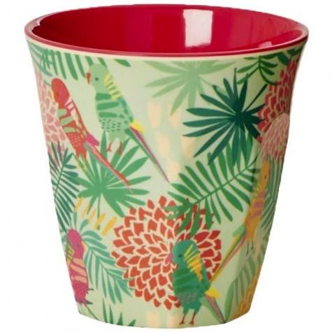 Bicchiere melamina con fantasia tropicale