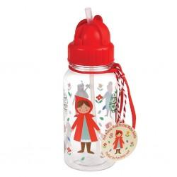 Children water bottle with Red Riding Hood
