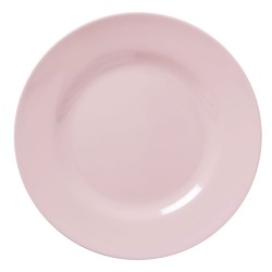 Soft pink round plate