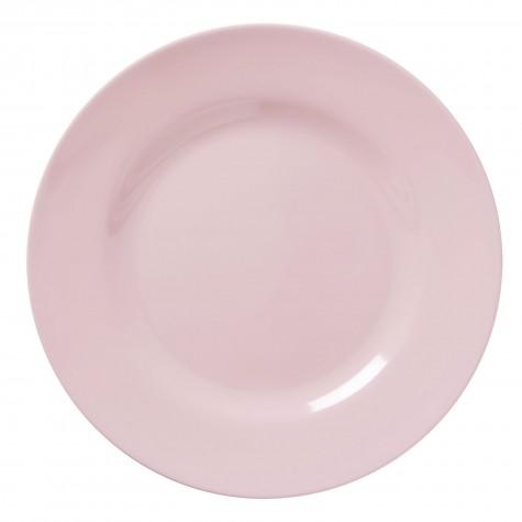 Piatto piano in tinta unita rosa chiaro