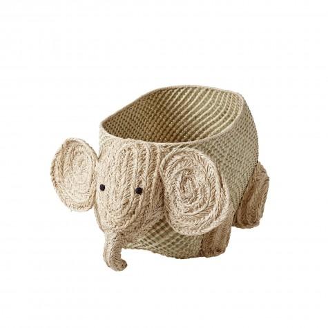 Contenitore in rafia a forma di elefante