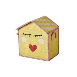 Casetta piccola portagiochi con faccina dolce
