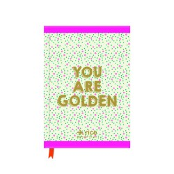 """Notebook A5 """"you are golden"""""""