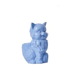 Porta spazzolini a forma di gattino azzurro