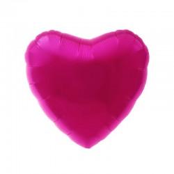 Palloncino fucsia a forma di cuore